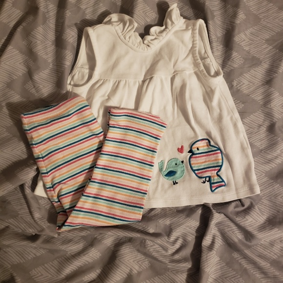 ac5606d2c299 Gymboree Matching Sets | White Sleeveless Shirt With Colored ...